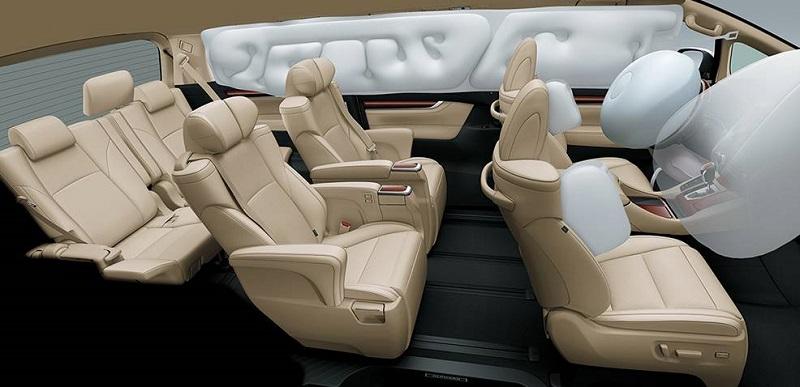 Nội thất Toyota Alphard phiên bản 2018 với nhiều thay đổi cải tiến