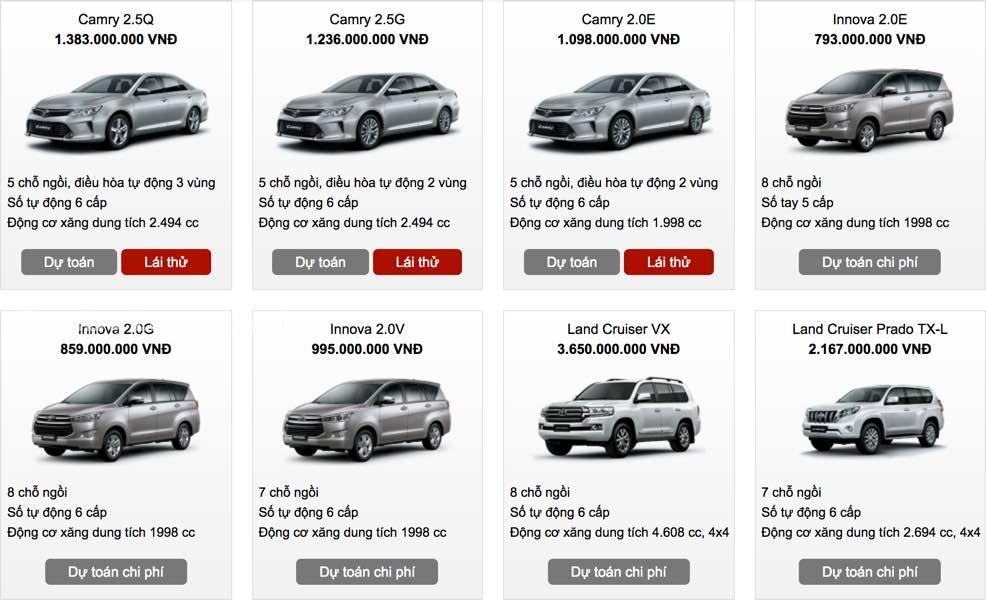Bảng giá xe Toyota Vios tháng 10/2019 tại Hà Nội và TPHCM