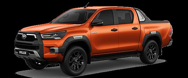 Toyota Hilux 2.8AT 2021 màu cam ánh kim (4R8)