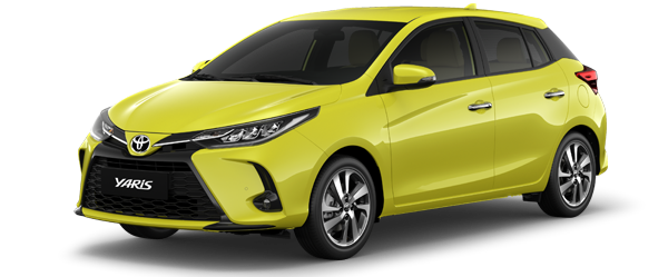Toyota Yaris màu vàng chanh 2021(6W2)