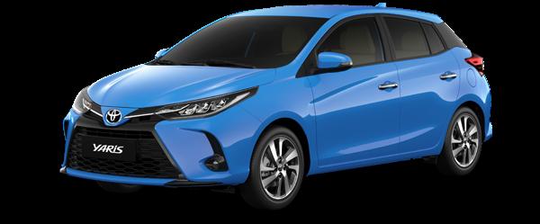 Toyota Yaris màu xanh 2021(8W9)